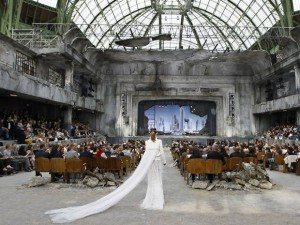 Ruined theatre for Chanel haute couture show Paris