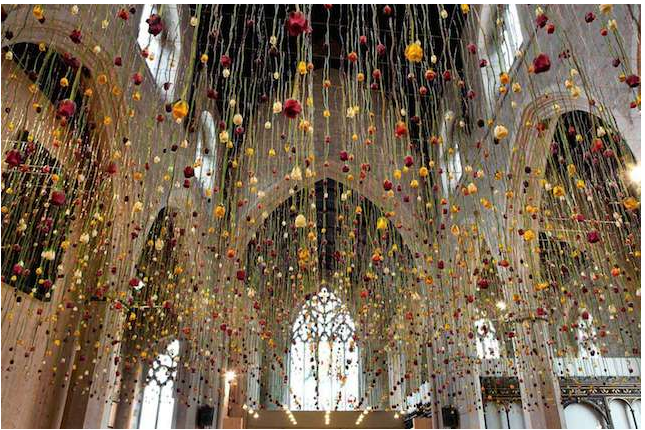composition florale rebecca louise law cathédrale