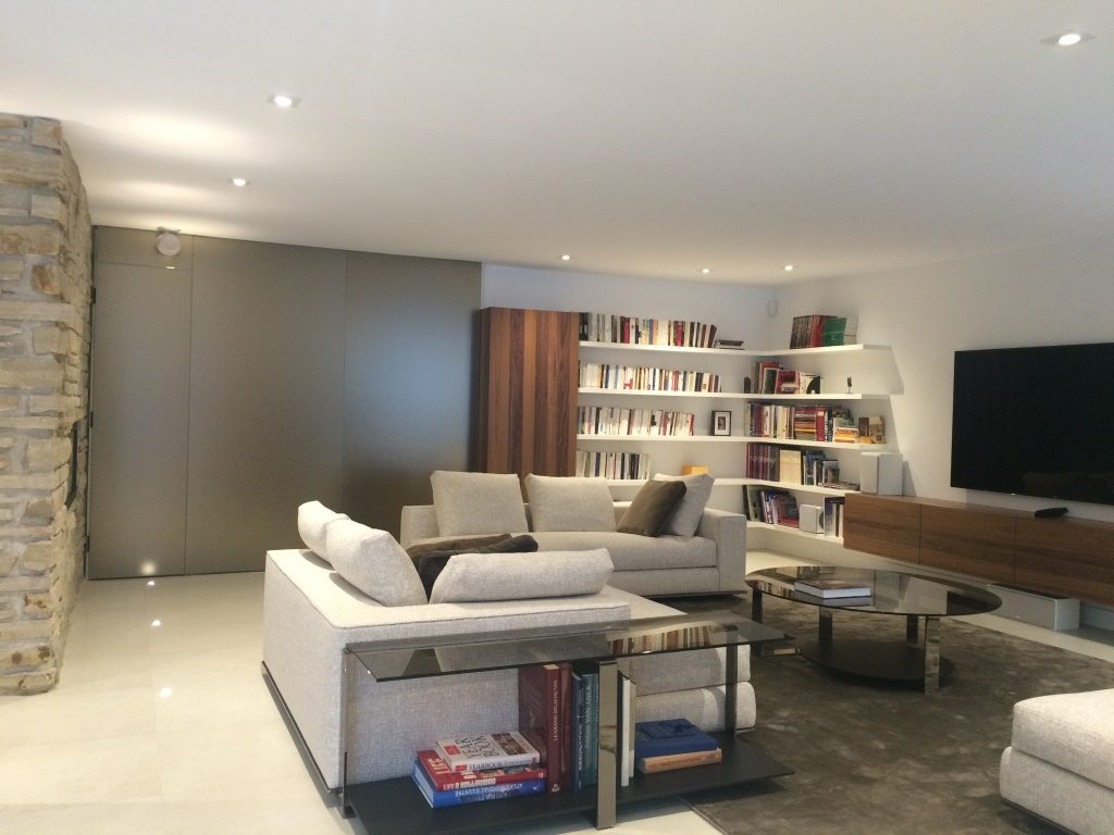 rénovation sous-sol contemporain sectionnel